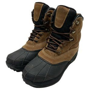 LL Bean Womens Brown Leather Insulated Duck Boots